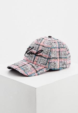 Бейсболка Karl Lagerfeld. Цвет: разноцветный