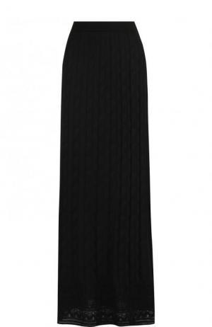 Однотонная вязаная юбка-макси M Missoni. Цвет: черный