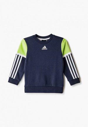 Свитшот adidas. Цвет: синий