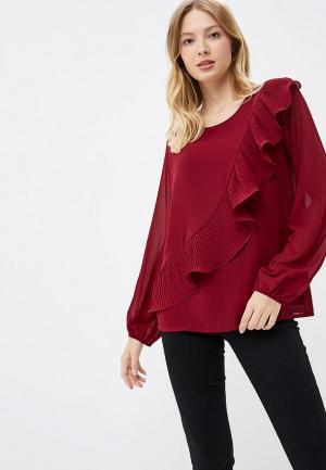 Блуза Miss by Valentina. Цвет: бордовый