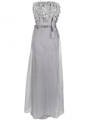 Silk gown Gloria Coelho. Цвет: серый