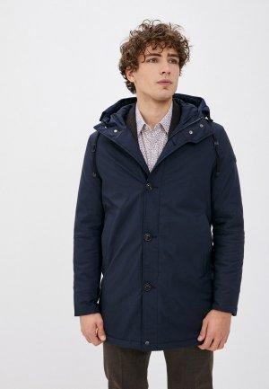 Куртка утепленная Primo Emporio. Цвет: синий
