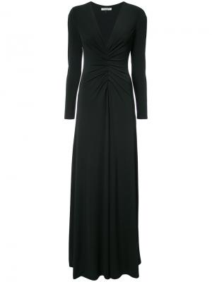 Платье со сборками на талии Halston Heritage. Цвет: чёрный