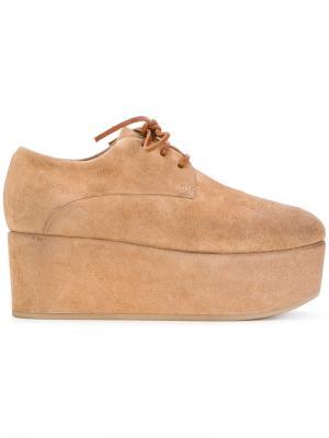 Ботинки-дезерты на платформе Marsèll. Цвет: коричневый