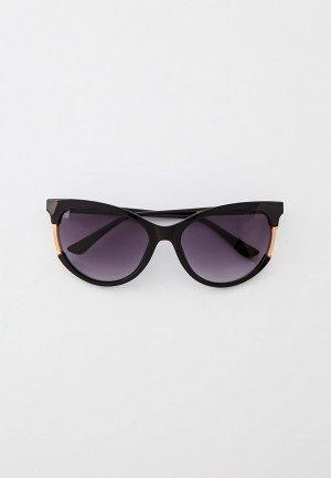 Очки солнцезащитные Guess. Цвет: черный