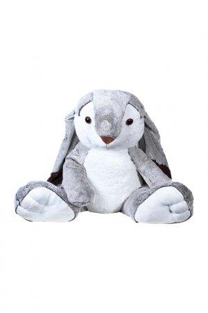 Мягкая игрушка Заяц 100 см MOLLI. Цвет: серый