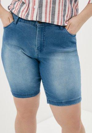 Шорты джинсовые Zizzi. Цвет: голубой