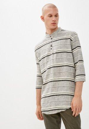 Рубашка Primo Emporio. Цвет: серый