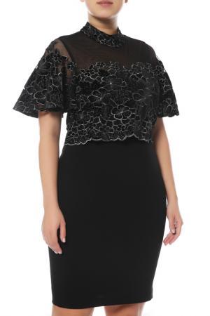 Платье Badgley Mischka. Цвет: черный