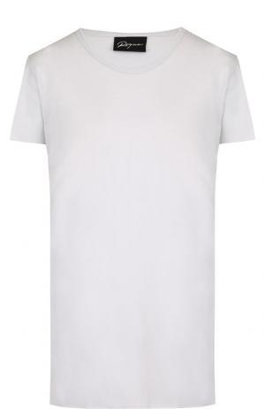 Хлопковая футболка с круглым вырезом Roque. Цвет: голубой