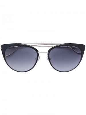 Солнцезащитные очки в оправе кошачий глаз Chrome Hearts. Цвет: металлический