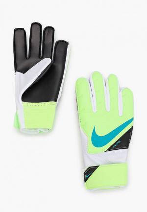 Перчатки вратарские Nike. Цвет: зеленый