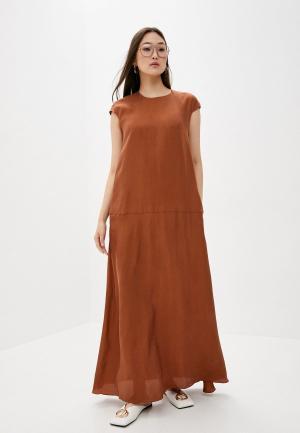 Платье LAutre Chose L'Autre. Цвет: коричневый