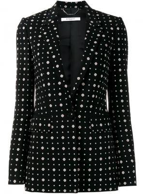 Блейзер с узором Givenchy. Цвет: чёрный
