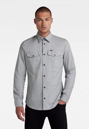 Рубашка G-Star. Цвет: серый