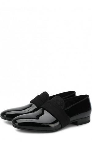 Кожаные слиперы с текстильной отделкой Alexander McQueen. Цвет: черный