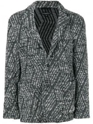 Блейзер вязки с косичками Engineered Garments. Цвет: серый