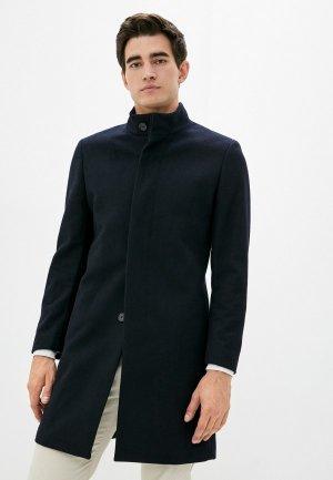 Пальто Mango Man. Цвет: синий