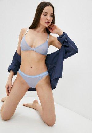 Бюстгальтер Stella McCartney Underwear. Цвет: голубой
