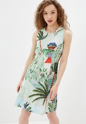 Платье Desigual. Цвет: зеленый