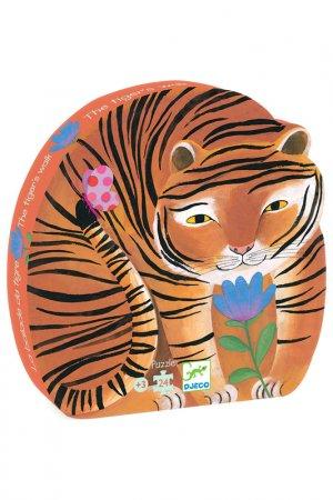 Пазл, Тигр, 24 дет Djeco. Цвет: оранжевый