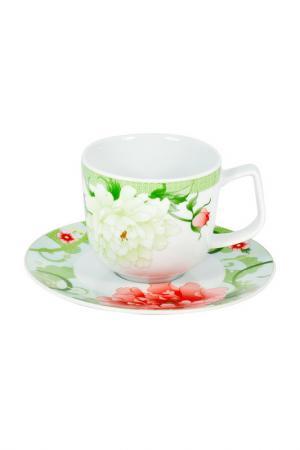 Чайная пара 6 шт. 250 мл Royal Porcelain. Цвет: зеленый