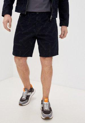 Шорты джинсовые Emporio Armani. Цвет: черный