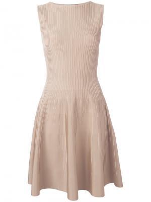 Платье с расклешенной юбкой Antonino Valenti. Цвет: телесный