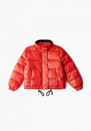 Куртка утепленная John Richmond. Цвет: красный