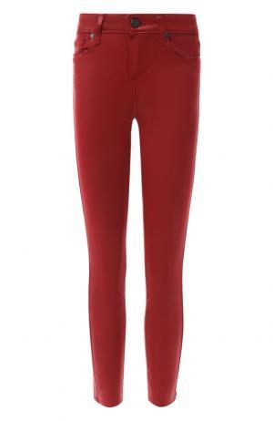 Укороченные джинсы-скинни Paige. Цвет: красный