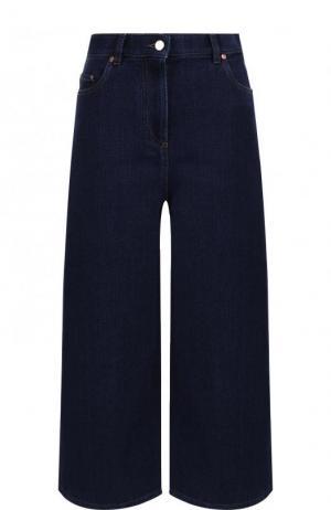 Укороченные расклешенные джинсы Valentino. Цвет: темно-синий