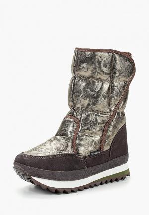 Дутики King Boots. Цвет: золотой