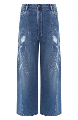 Укороченные джинсы свободного кроя Acne Studios. Цвет: синий