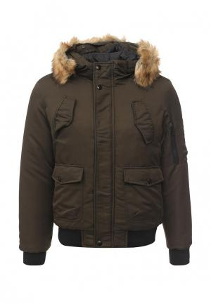 Куртка утепленная Aarhon. Цвет: хаки