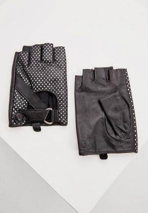 Митенки Karl Lagerfeld. Цвет: серебряный