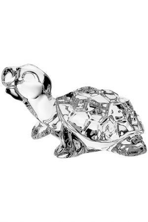 Фигурка Черепаха 9 см CRYSTAL BOHEMIA. Цвет: прозрачный