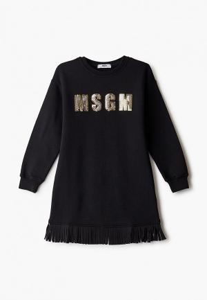 Платье MSGM Kids. Цвет: черный