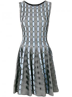 Расклешенное платье Antonino Valenti. Цвет: синий