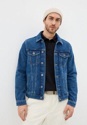 Куртка джинсовая Trussardi. Цвет: синий