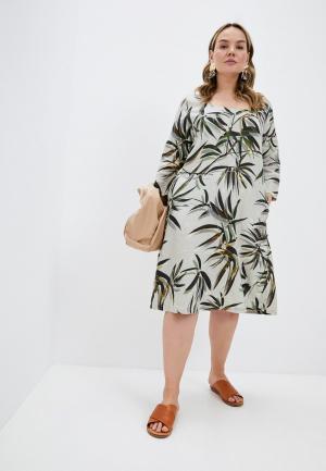 Платье Elena Miro. Цвет: бежевый