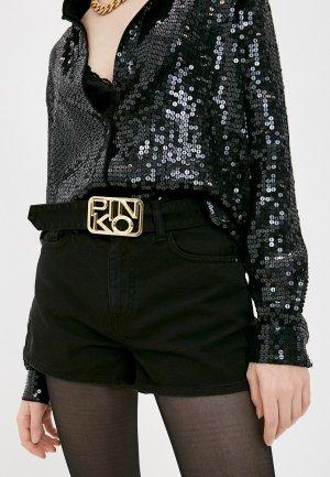 Шорты джинсовые Pinko. Цвет: черный