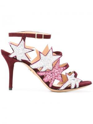 Босоножки Twinkle Toes Charlotte Olympia. Цвет: розовый и фиолетовый