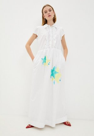 Платье Alessandro DellAcqua Dell'Acqua. Цвет: белый