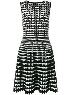 Платье с узором Antonino Valenti. Цвет: чёрный