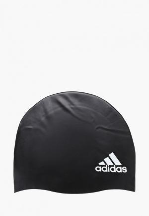 Шапочка для плавания adidas. Цвет: черный