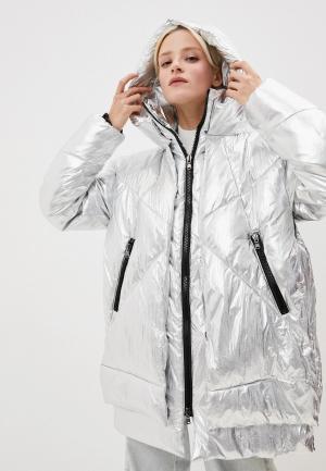 Куртка утепленная Canadian. Цвет: серебряный