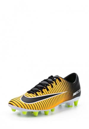 Бутсы Nike. Цвет: желтый