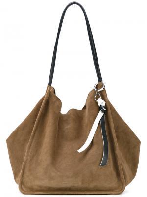 Большая сумка-тоут Proenza Schouler. Цвет: зелёный
