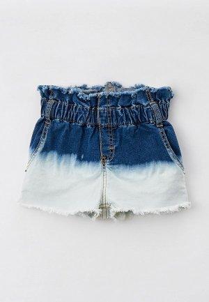 Шорты джинсовые Gulliver. Цвет: синий
