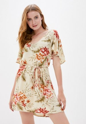 Платье Billabong. Цвет: бежевый